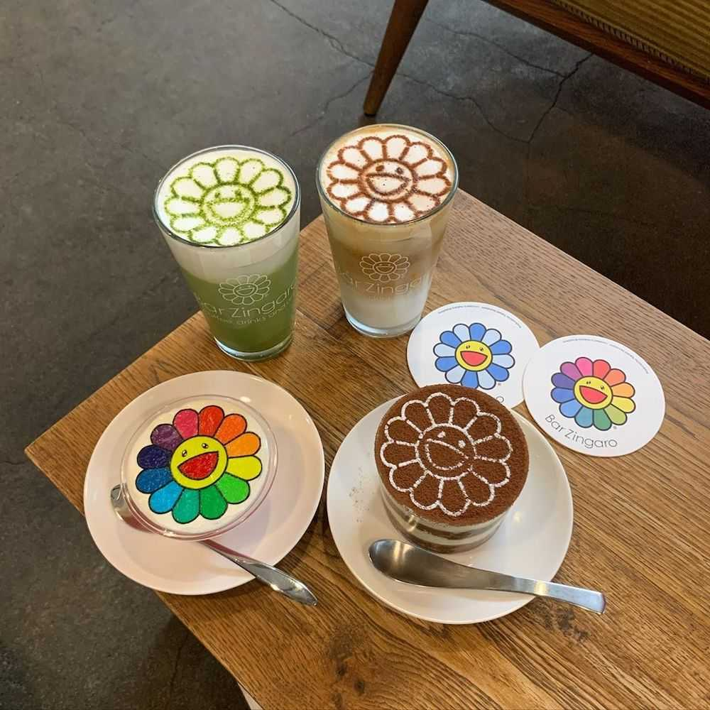 Coffee at Takashi Murakami Cafe Bar Zingaro